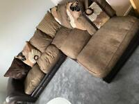 DFS CORNER SOFA leather/fabric