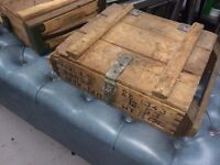 various army ammunition boxes 4 in total