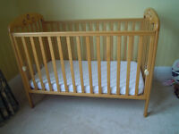 MOTHERCARE WOODEN COT