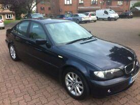 BMW 318i ES Saloon 2.0 , 2004/54 Reg, MOT 31st May No Advisories, Serv History, 4 Dr Sal, Met. Blue