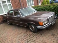 Mercedes 280se 1980(v) barn find excellent project 2.8 litre automatic starts and drives