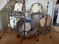 Vintage 1970's Tama Swingstar Drum Kit With Premier Floor Tom & Cymbal Stands