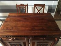 Solid Mahogany Dining Table and 4 Chairs