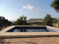 Andalucia Eco Build House, Nature, Sea, Pool ,off grid (sleeps 6) Atlantic coast, surfing.