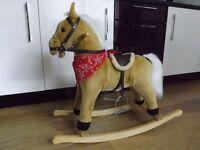 Kiddies Plush Rocking Horse