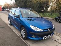 Peugeot 206 sw s 2005 , 1.4petrol great condition