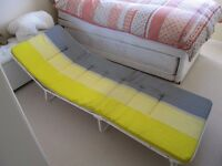 FOLD UP BED / SUN LOUNGER WITH CUSHION