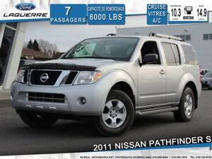 2011 Nissan Pathfinder S**4X4*7 PLACES*CRUISE*A/C**