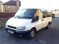 Ford Transit minibus, crewcab, people carrier, works van MOT 05/2017 9 seater,