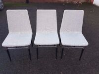 3 Canvas Fabric Chairs FREE DELIVERY 475