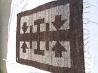 Authentic African woollen rug