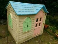Childrens outdoor playhouse.