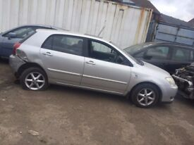 breaking toyota corolla car parts spares silver colour