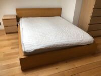 IKEA King size bed frame and mattress