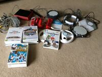 Large Nintendo wii mini bundle including 12 games and extras