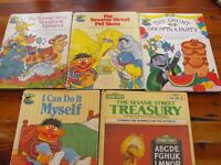 5 X COLLECTIBLES(1970'S) SESAME STREET BOOKS
