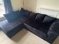 Crushed velvet sofa-must go