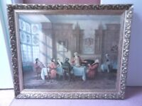 Antique oil painting large ornate picture frame