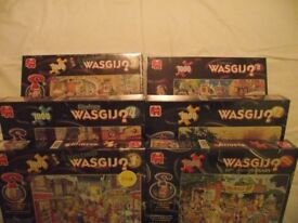 WASGIJ Puzzles, Xmas 3,Xmas 4,Mystery 4,Destiny 8,Wasgij 12, 10th Anniversary. All brand new.