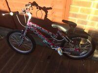 Raleigh Krush 18 young girls (6-8 years) bike for sale.