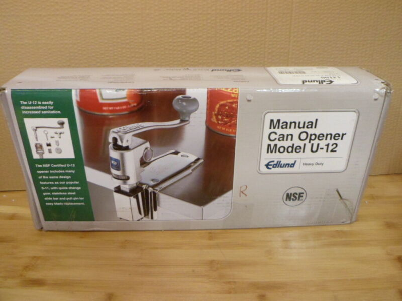 Edlund U-12 Manual Can Opener Heavy Duty with plated base