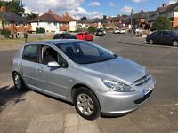 PEUGEOT 307 1.4 HDI DIESEL LOW MILES £30 TAX FOR THE YEAR