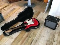 Marlin Electric Guitar and Crafter CR-15G Amplifier