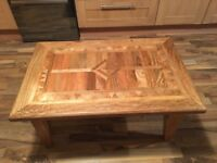 Beautiful real wood coffee table for living room would enhance any room