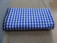 3 large rectangle tablecloths, 2 HABITAT/1PIER & 7 HABITAT red gingham 100% cotton napkins from £5