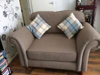Beige cuddle chair