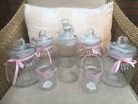 Wedding Candy cart jars