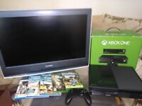 """Xbox one boxed and 26"""" Sony bravia bundle"""