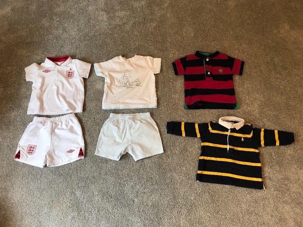 0563f0e48337 35 Items Of Boys 6-9-12 Months Clothes Bundle