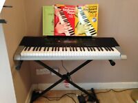 Casio Keyboard CTK-4400 with stand and two beginners books