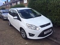 QUICK SALE FORD CMAX 2012 WHITE ALLOY WHEELS 1.6 PCO 7 SEATER MINICAB EAST LONDON £5749 ONO