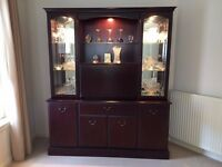 Mahogany Display Cabinet - display and store your crystal wear, glasses, vases, drinks