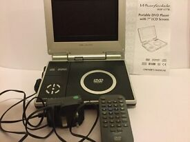 DVD player with LCD screen