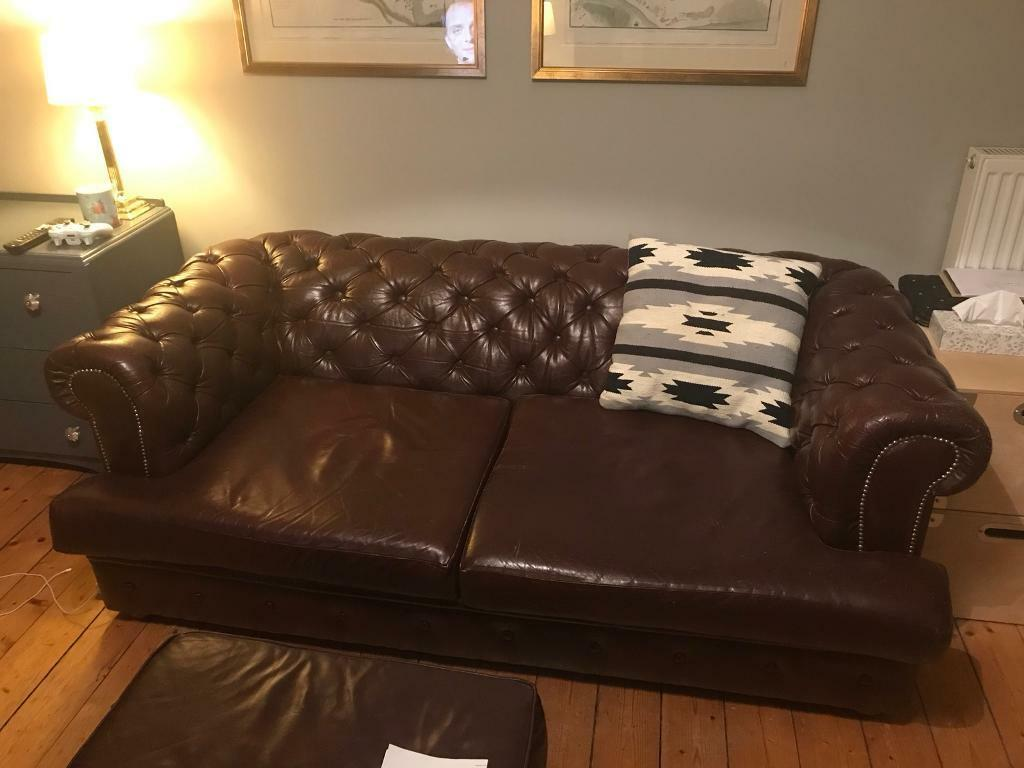 Superb Oxblood Chesterfield Leather Sofa In London Road Edinburgh Gumtree Inzonedesignstudio Interior Chair Design Inzonedesignstudiocom