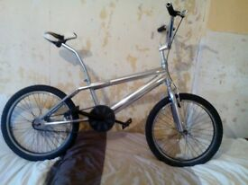 "BMX, OLD SCHOOL FREESTYLER,FULL CHROME,LAYBACK SEAT POST, 20""WHEELS EXC CON, £35 ONO"