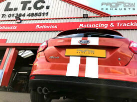Ford Focus Stainless Steel Back Box Delete with Twin Tip Tailpipe