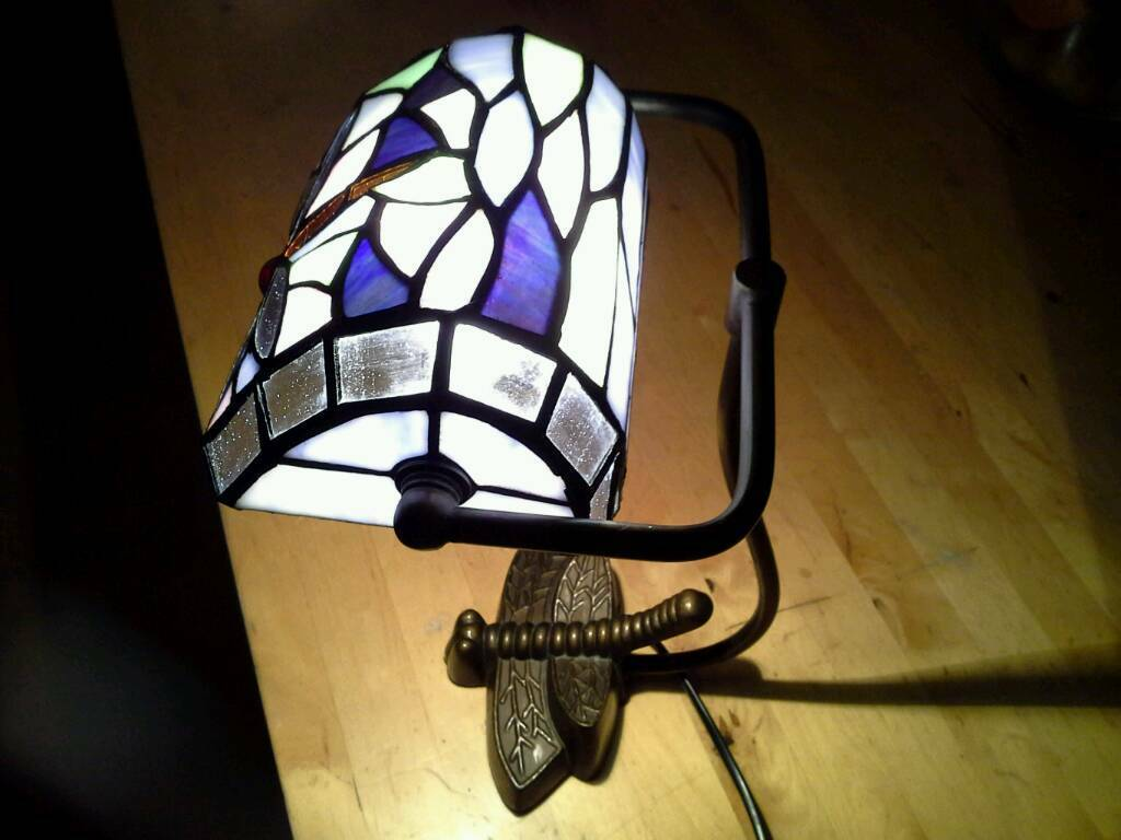 Tiffany Dragonfly Bankers Lamp