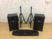 RCF PRF151 Passive Speakers With Proel Stands - Fully Functional