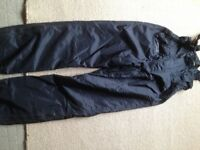 Quilted waterproof trousers
