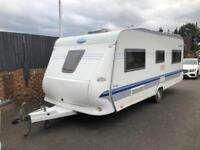 Hobby 560 prestige (2005) single axle. Isabella awning included