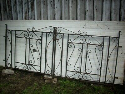 Pair of Heavy Duty Iron Driveway Gates