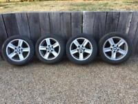 """16"""" 5x120 bmw Renault Vauxhall alloy wheels with tyres"""