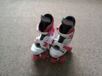 Girls roller skates. Adjustable size 10-12
