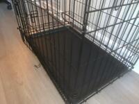 Folding Double Door Metal Puppy Dog Cage (Medium - 30 Inch)