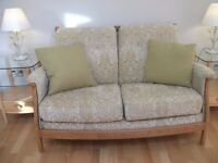 ERCOL GINA 2 SEATER SETTEE IN THE LIGHT WOOD
