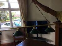 Snooker table light